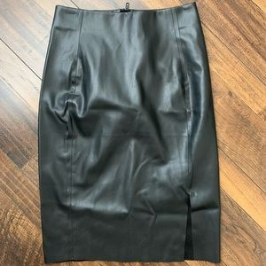 Faux Leather Highwaisted Pencil Skirt